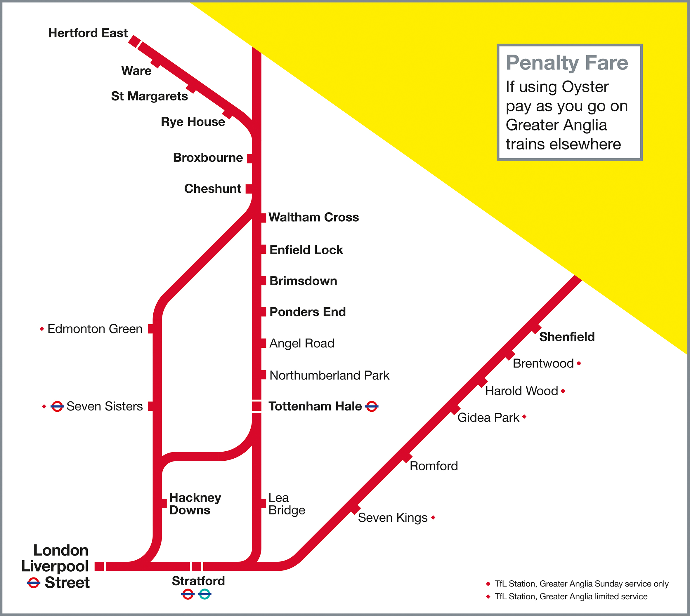 Greater Anglia Map Oyster | Greater Anglia