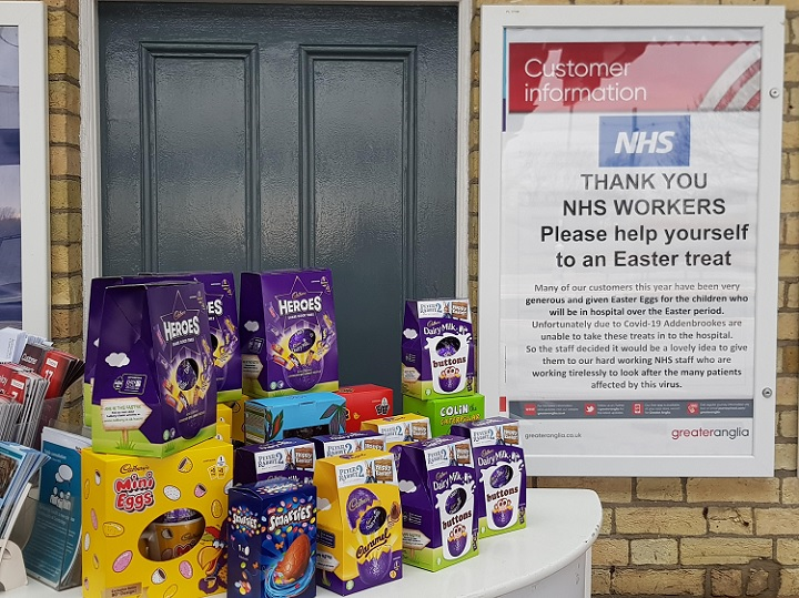 Easter egg donations for staff