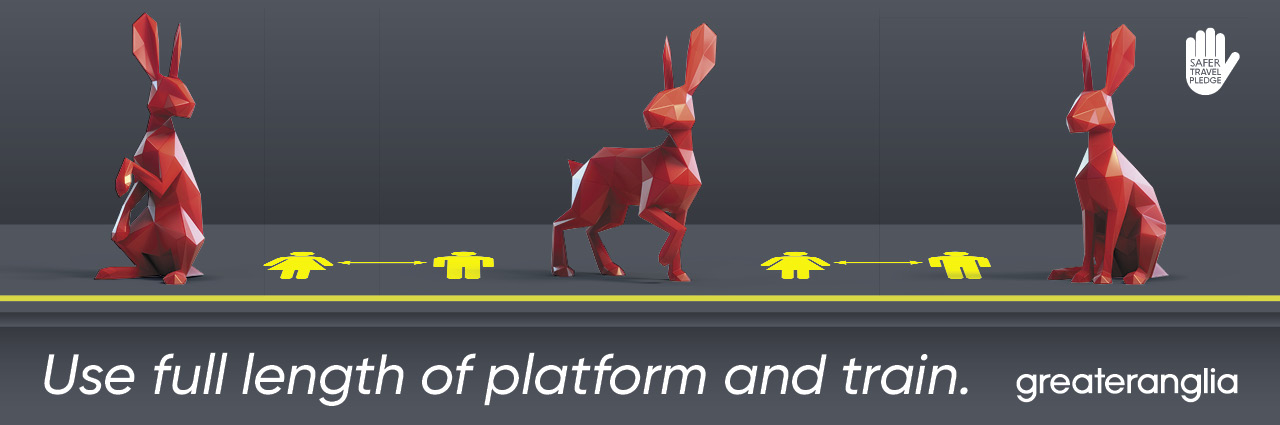Use full length of platform and train.