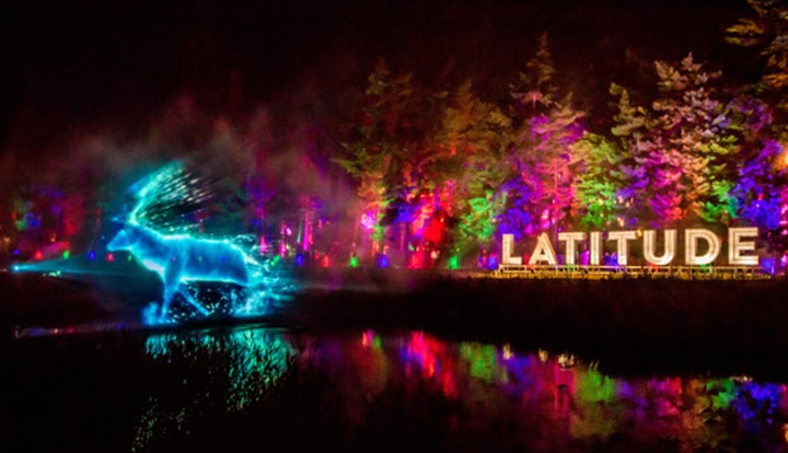 Latitude festival light display