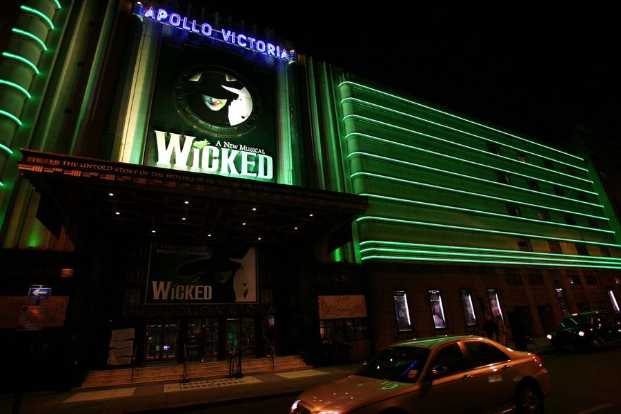 General view of the Apollo Victoria Theatre in London which is currently showing Wicked