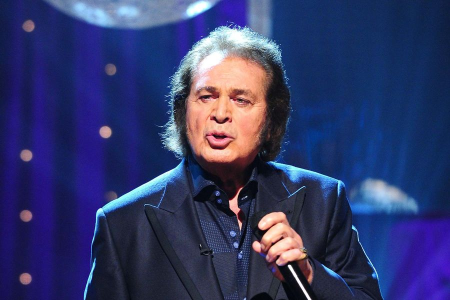 Engelbert Humperdinck performing during the filming for this week's edition of The Graham Norton Show, at the London Studios in London