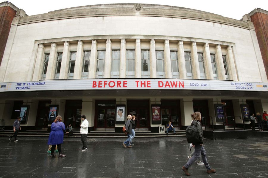 The Hammersmith Apollo, London, ahead of the singer Kate Bush's 'Before the Dawn' concert