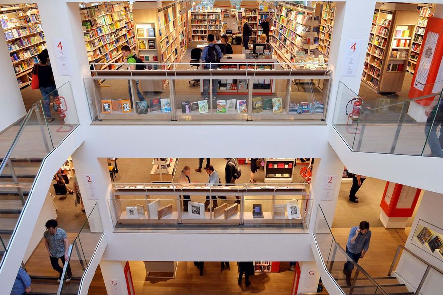 The new Foyles flagship bookshop on Charing Cross Road, London
