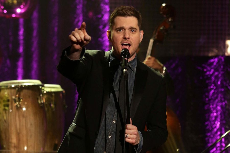 Michael Buble during the filming of the New Year's Eve Graham Norton Show, at The London Studios