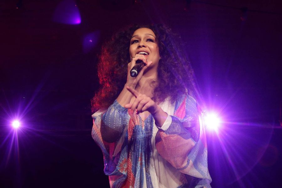 Rebecca Ferguson performing at the MOBO Celebrates Women of the World (WOW) festival, at the Southbank Centre in London