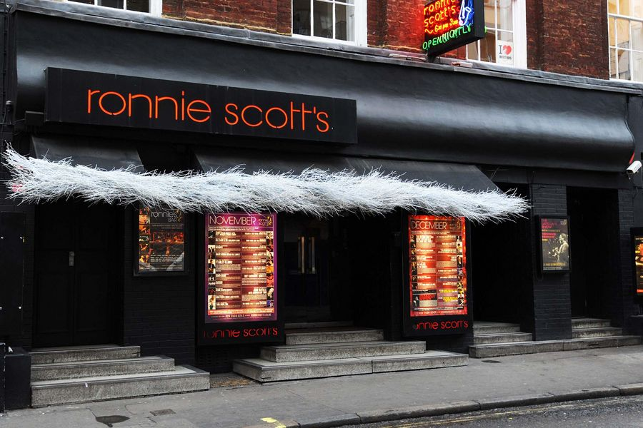 A general view of Ronnie Scott's Jazz Club, a popular music venue in Soho, London