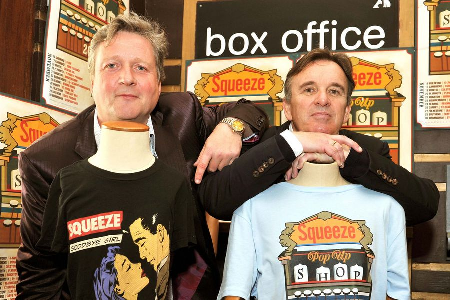 Glenn Tilbrook and Chris Difford the two founding members of the British band Squeeze