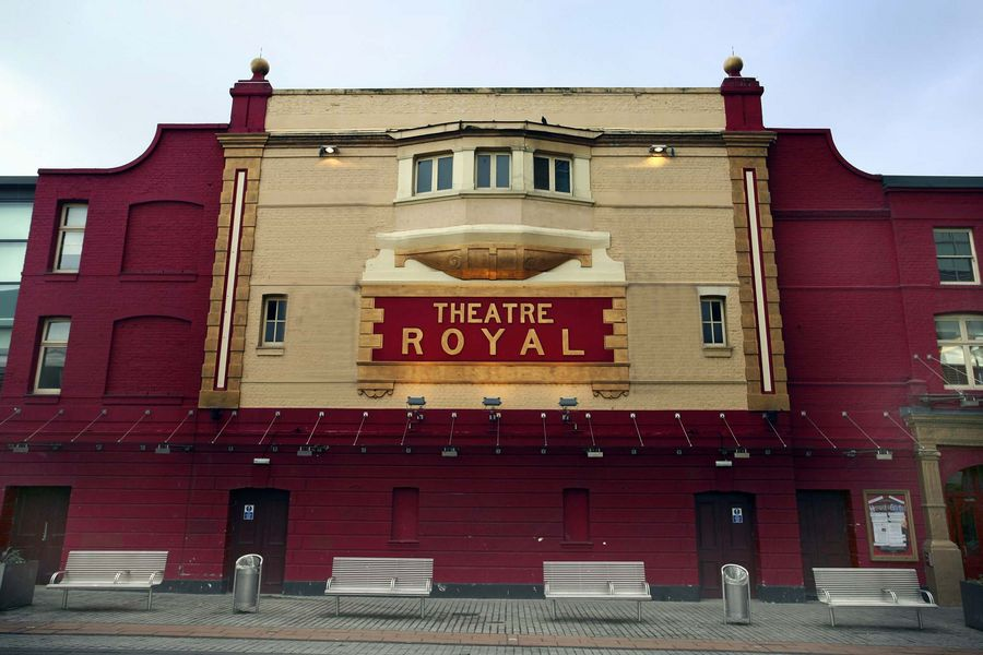 An exterior image of the Theatre Royal Stratford East