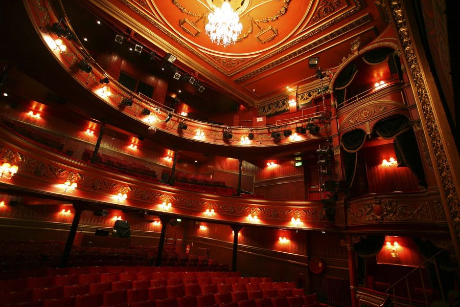 An interior image of the Theatre Royal Stratford East