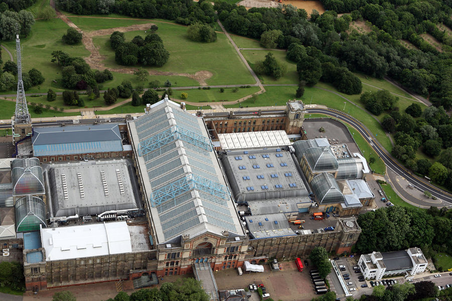 Aerial view of Alexandra Palace  in North London