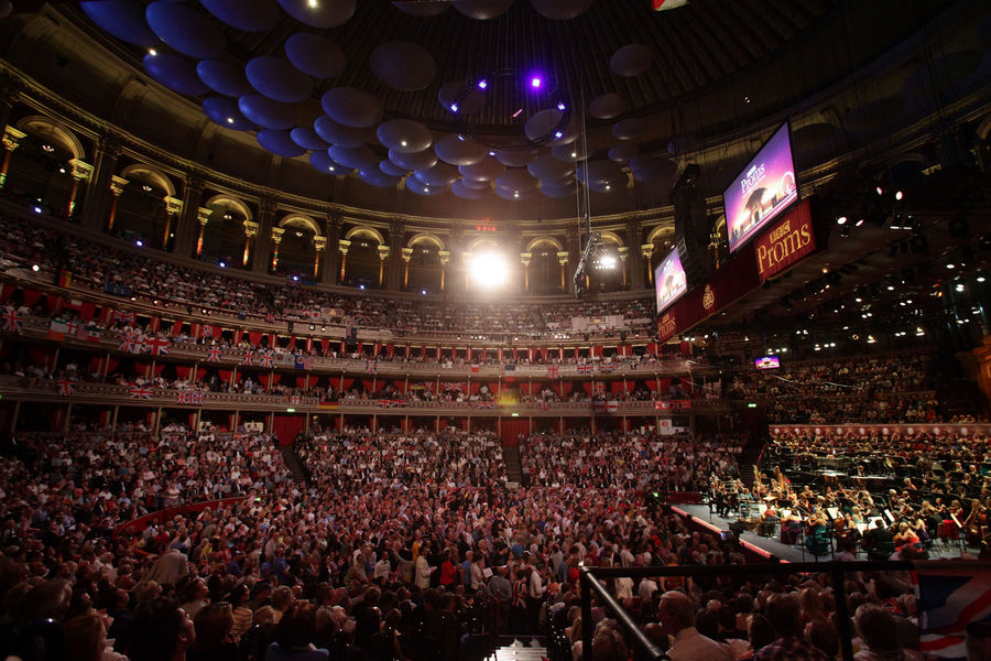 A general view of the Royal Albert Hall, during the BBC Last Night Of the Proms 2012