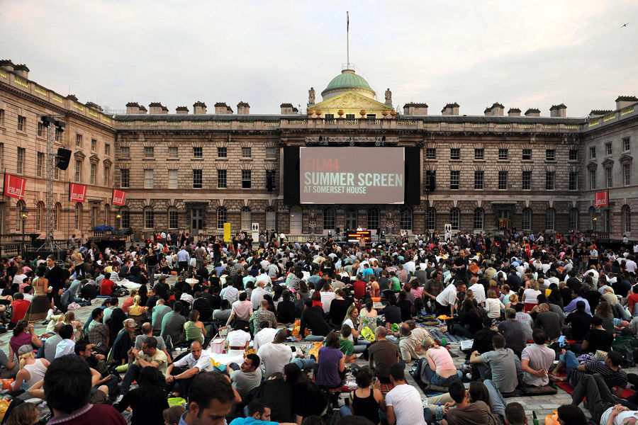 Opening night gala screening of Hellboy II:The Golden Army which kicks off the annual film season, FilmFour Summer Screen, at Somerset House, in London