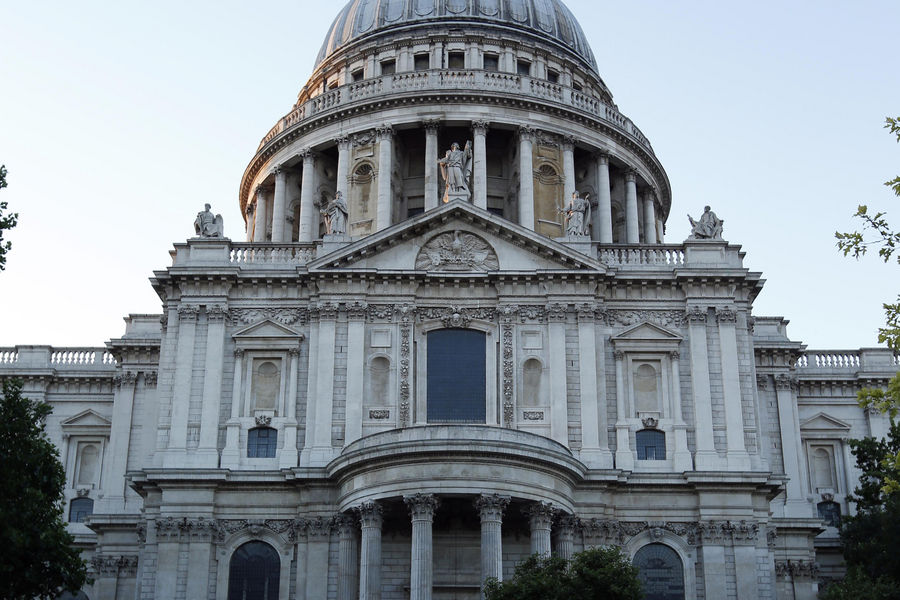 St Paul's Cathedral in London as seen at dusk