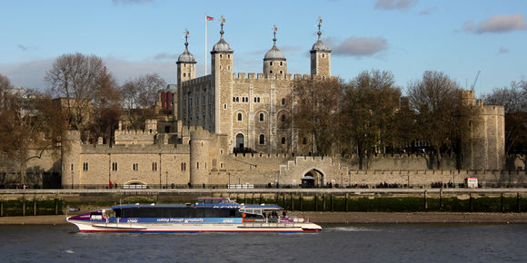 A general view of the Tower of London, London