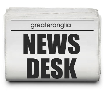 Greater Anglia Newspaper with headline 'News Desk'
