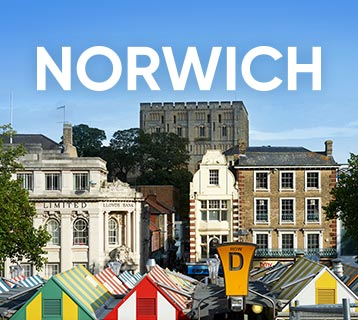 Visit Norwich by train and discover a city steeped in history