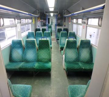 Old train seats