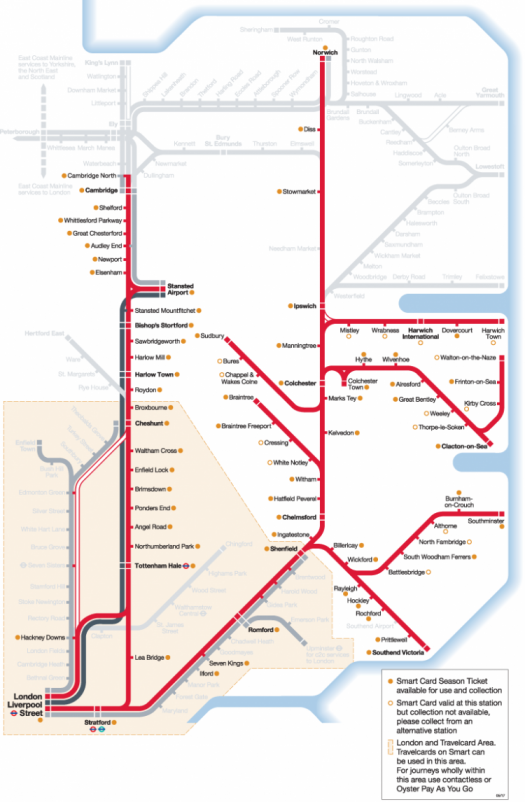 Smart Card route map