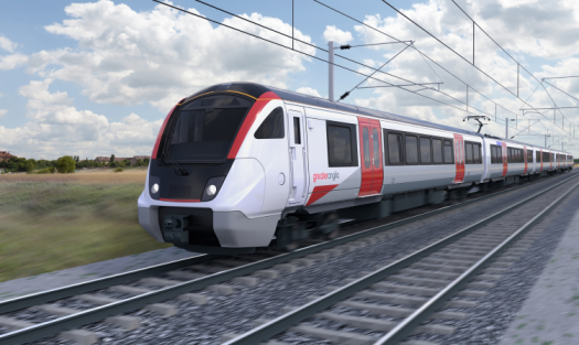 External livery for the new Bombardier Aventra, Greater Anglia train