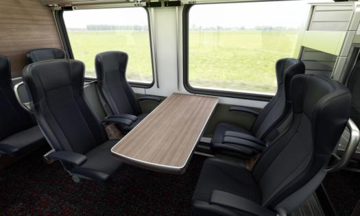 Interior view of the Intercity First Class Carriages