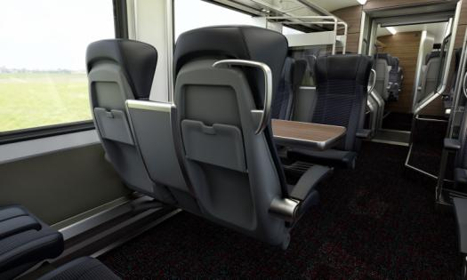 Interior view of the Intercity First Class Carriage