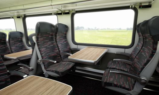Interior view of the Stansted Express carriages