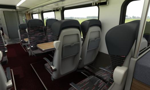 Interior view of Regional carriages