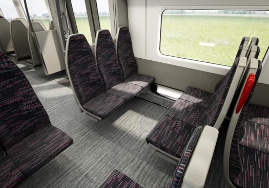 Bombardier Aventra Interior view of carriages