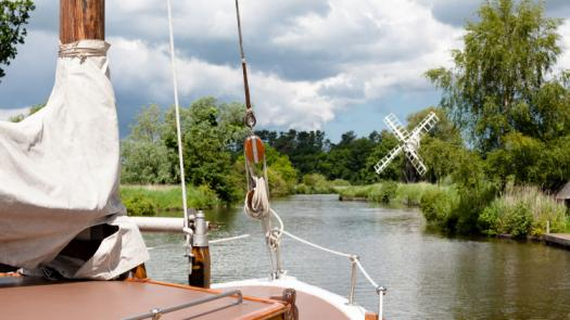 See the many waterways of the Broads by sail