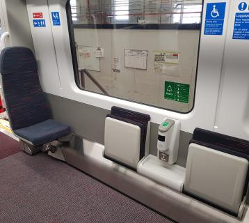 Disabled area on Greater Anglia train