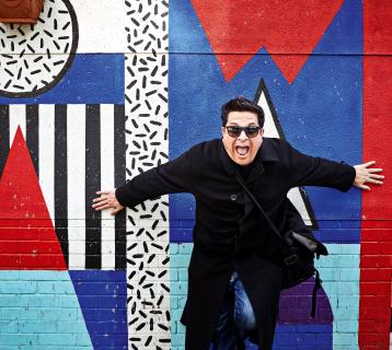 Dom Joly with street art