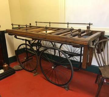 An antique wagon frame