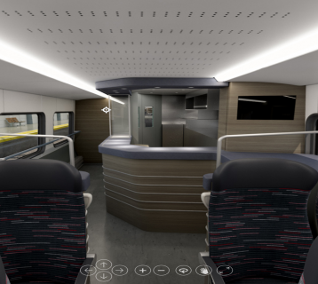 Stadler train buffet car