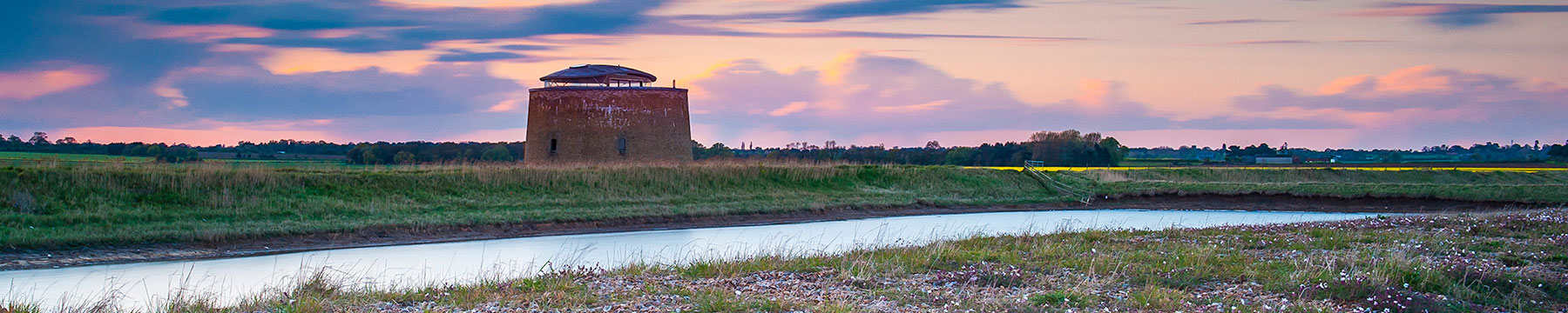 Landscape photo of Martello Tower in Suffolk Coast