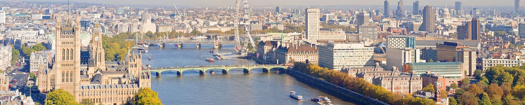 London panorama from the air