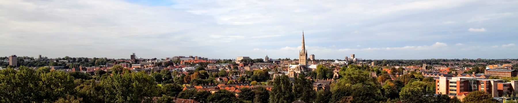 Great views of Norwich Cathedral and the surrounding city