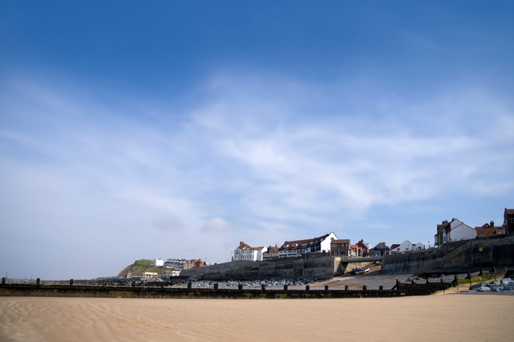 Sheringham's sandy beach is perfect for sandcastles