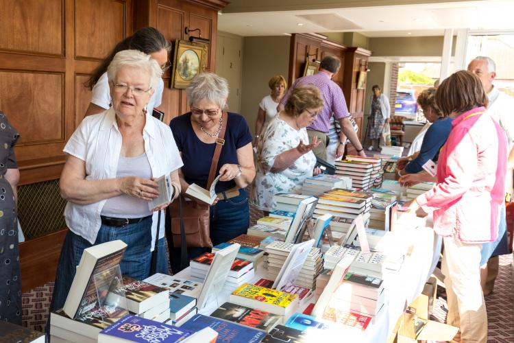 There are varied talks and lots of places to buy books at Felixstowe