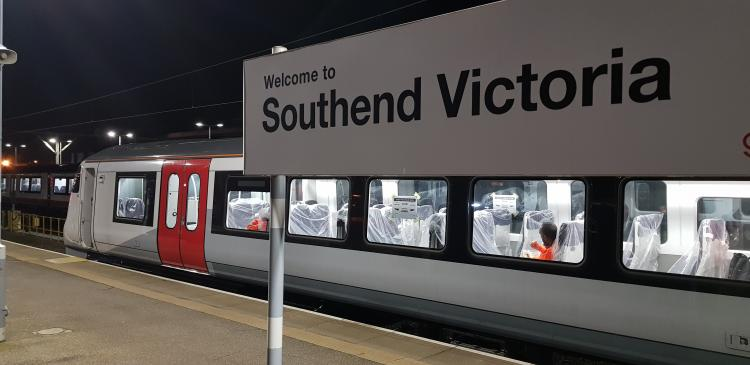 Greater Anglia's Bombardier train on test