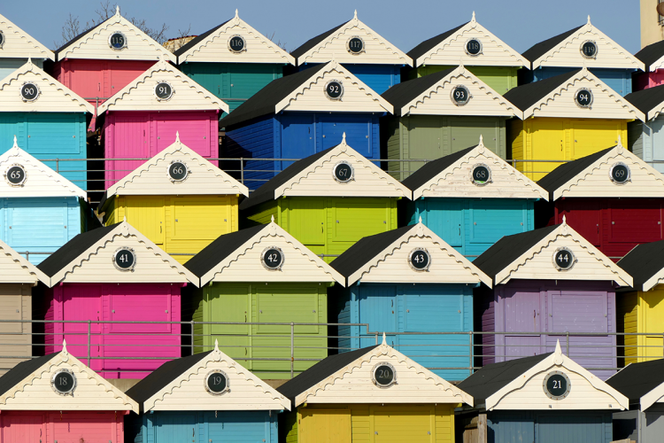 Colourful beach huts at Walton-on-the-Naze