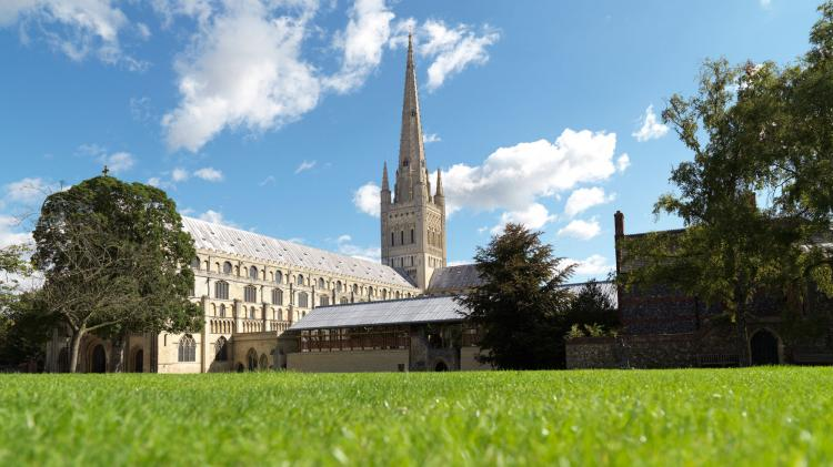 The lovely Norwich Cathedral also puts on a range of exhibitions