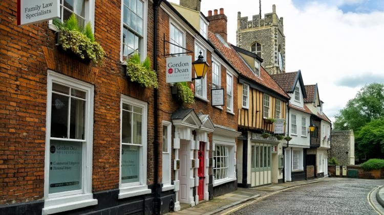 Norwich's Timberhill is full of cobbles and historic houses