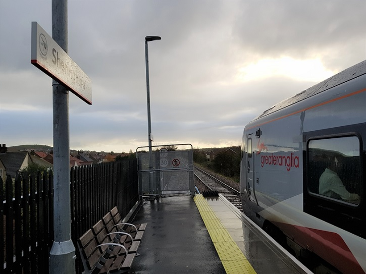 One of Greater Anglia's new trains at Sheringham station