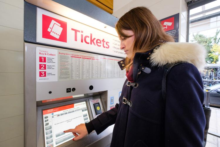 Virtual Ticket Agent ticket machine in use