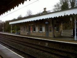 Newport Station - Buildings on Station Platform
