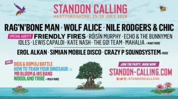 Entry to Standon Calling Festival 2019, return rail travel and shuttle bus