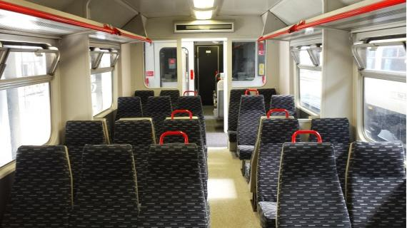 Interior of a class 321 train