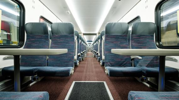 Interior of a class 745 train