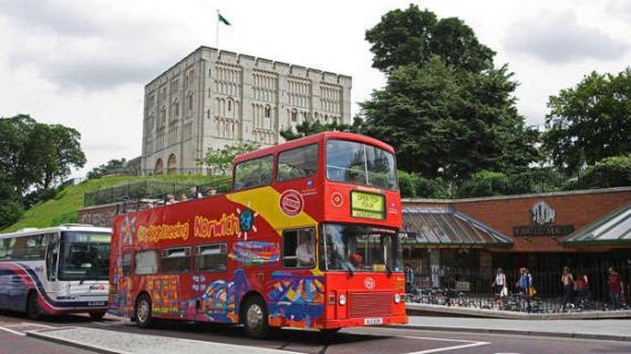 Open top bus tours or Norwich